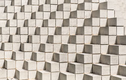 White bricks and blocks all stacked together. Interesting pattern of bricks and blocks Royalty Free Stock Photo