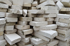 White bricks stack Stock Image