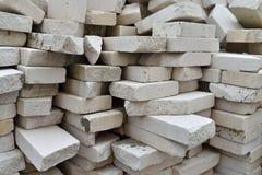 White bricks stack Stock Image