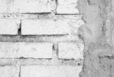 White bricks wall texture with cement Stock Image
