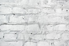 White brickwork as texture Royalty Free Stock Images
