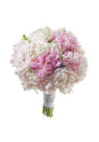 White bridal boquet 2. White bridal boquet with peonies Royalty Free Stock Image