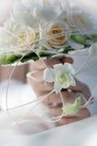 White bridal bouquet Stock Images