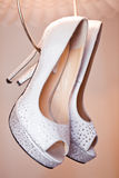 White brides shoes Stock Images