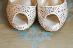 White brides shoes Stock Image