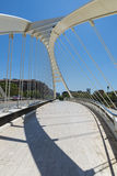White bridge in Barcelona Stock Images