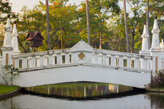 White bridge comercial park Stock Photography
