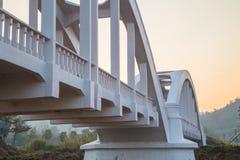 White Bridge. In Lamphun,Thailand stock photos