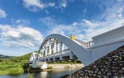 White bridge is landmark for Japan's soldier. This bridge building in world war2 for landmark Japanese soldier fighter Royalty Free Stock Images