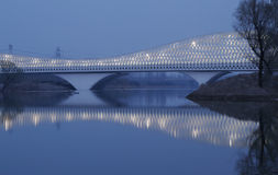 White  bridge Royalty Free Stock Images