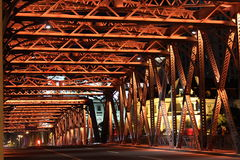 White Bridge Night Royalty Free Stock Photography
