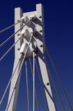 White Bridge Pylon. Steel Cables, Dark Blue Sky, Sydney, Australia Stock Photo