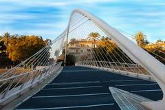 The white bridge of the Segura river Royalty Free Stock Image