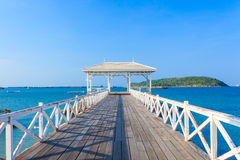 White Bridge. At Si Chang Island with blue sky Royalty Free Stock Image