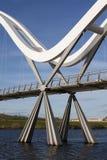 White bridge. At stockton on tees Royalty Free Stock Photos