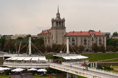 The White Bridge in Vilnius Stock Photos