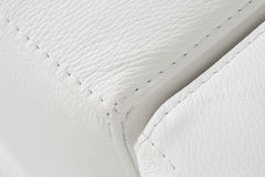 White bright leather upholstery texture Stock Image