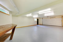 White bright new empty garage. Stock Photography