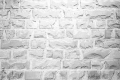 White broken brick wall texture background Royalty Free Stock Images