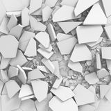 White broken cracked surface destruction ground. 3d render ilustration royalty free illustration