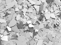White broken cracked surface destruction ground. 3d render ilustration stock illustration