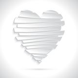 White Broken Heart Stock Photo