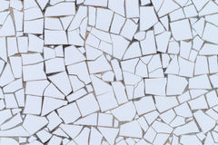 White broken tiles wall Stock Image