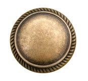 Bronze rivet isolated on white. White bronze rivet circle element isolated shiny Stock Images