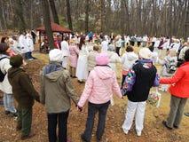 White Brotherhood's spring feast Stock Image