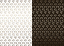 White and brown backgrounds with coffee pattern Royalty Free Stock Image