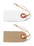 White and brown blank tags Stock Photos