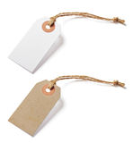 White and brown blank tags Royalty Free Stock Photo