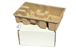 White and brown box Stock Image