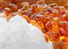 White and brown candy sugar Stock Image