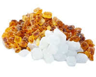 White and brown candy sugar.Still-life Stock Images