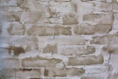 White and brown cement plaster wall background Royalty Free Stock Photography