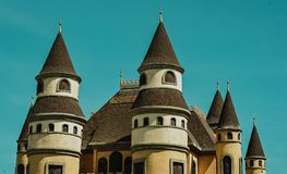 White and Brown Ceramic Castle Stock Images
