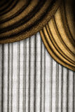 White and brown curtains Royalty Free Stock Image