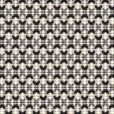 White brown diamond inside hexagon pattern black frame backgroun. D vector illustration image Royalty Free Stock Photos