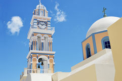 White and Brown Dome Church Under Blue Sky at Daytime Stock Photography