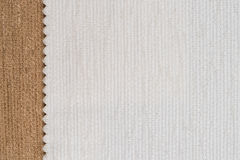 White and brown fabric texture Stock Images
