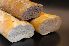White and brown French bread Royalty Free Stock Image