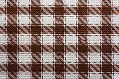 White and brown gingham fabric background Stock Photo