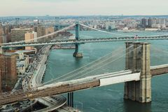 White Brown and Grey Bridge With Cars Royalty Free Stock Images