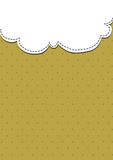 White and brown paper. White paper above brown dot paper Royalty Free Stock Image