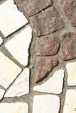Paving stones on the bottom. White an brown paving stones on the bottom Royalty Free Stock Photo
