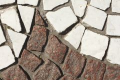Paving stones on the bottom. White an brown paving stones on the bottom Stock Image