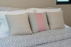 White and brown pillow Stock Image
