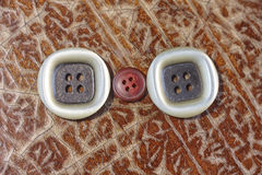White brown and red buttons Royalty Free Stock Photos