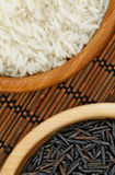 White and Brown Rice Stock Photos